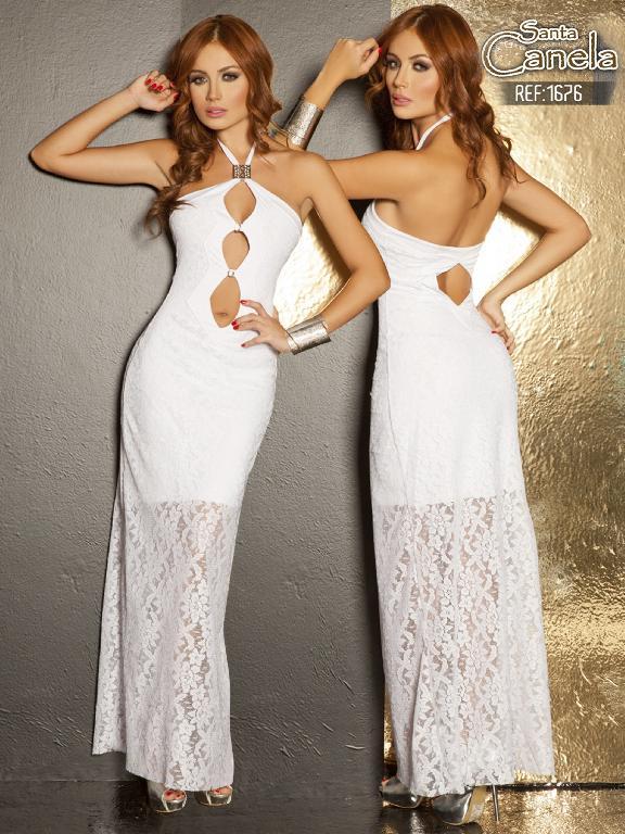 Vestido Moda Santa Canela - Ref. 130 -1676 Blanco