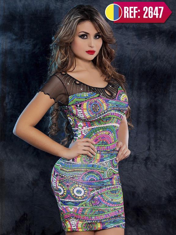 Vestido Moda Colombiano Cereza  - Ref. 111 -2647
