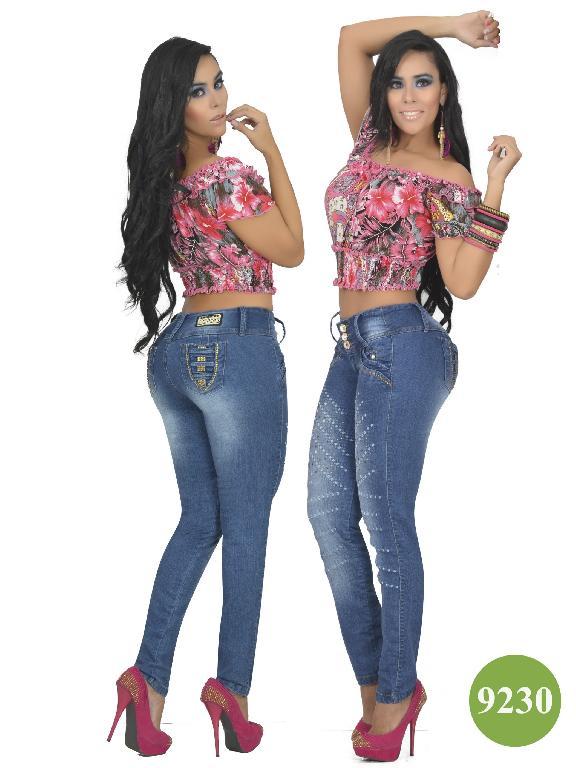 Jeans Colombiano Levantacola Osheas