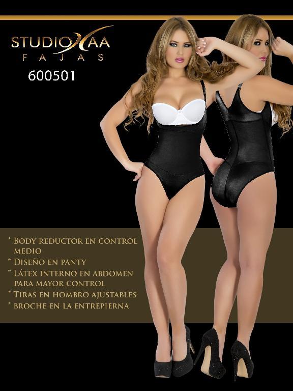 Faja Colombiana Studio AA - Ref. 110 -6005 Panty Negra