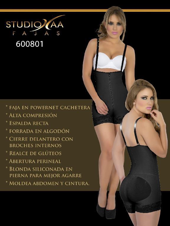 Faja Colombiana Studio AA - Ref. 110 -6008 Negra