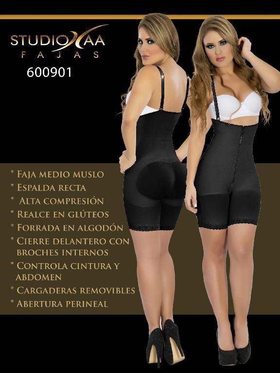 Faja Colombiana Studio AA - Ref. 110 -6009 Negra