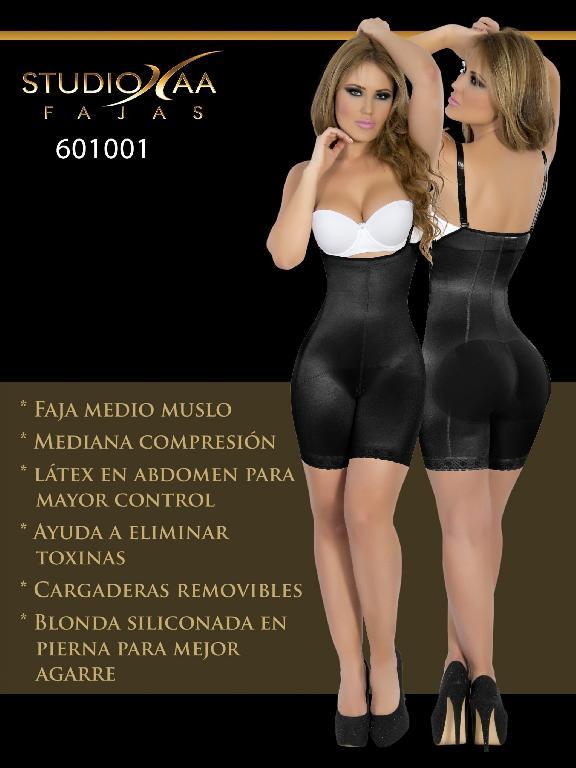Faja Colombiana Studio AA - Ref. 110 -6010 Negra