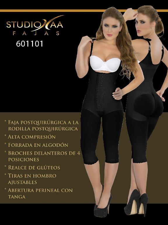Faja Colombiana Studio AA - Ref. 110 -6011 Negra