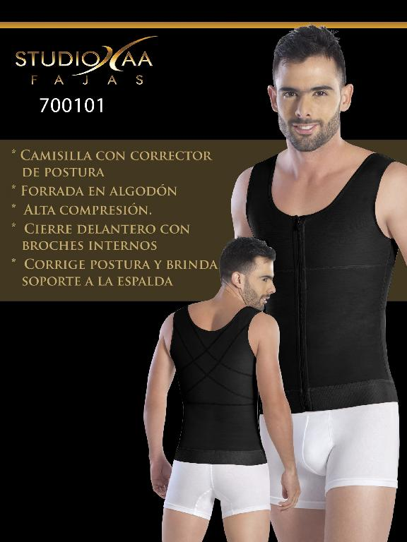 Faja Colombiana Studio AA - Ref. 110 -7001 Negra