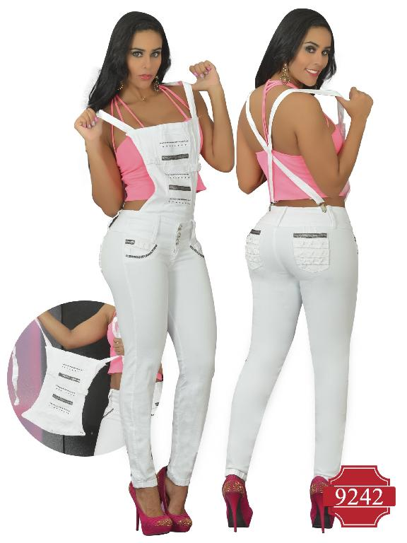 Jeans Levantacola Colombiano Osheas con peto - Ref. 103 -9242