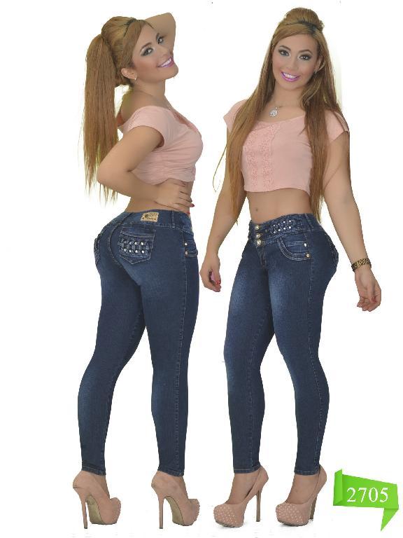 Jeans Levantacola Colombiano Studio AA  - Ref. 102 -2705