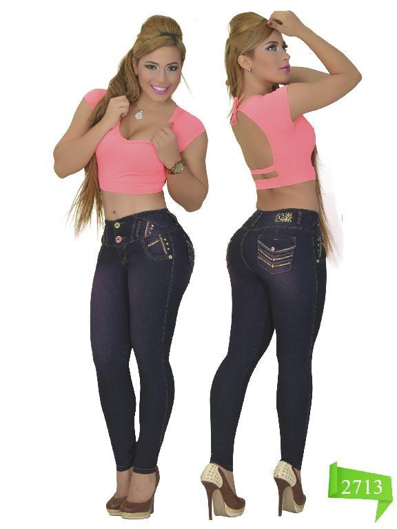 Jeans Levantacola Colombiano Studio AA  - Ref. 102 -2713
