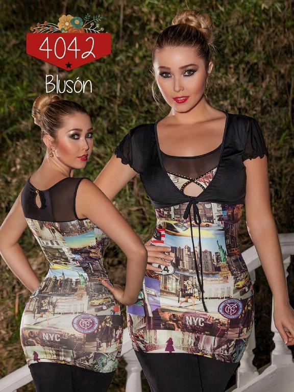 Blusa Moda Cereza  - Ref. 111 -4042-2 NEGRO
