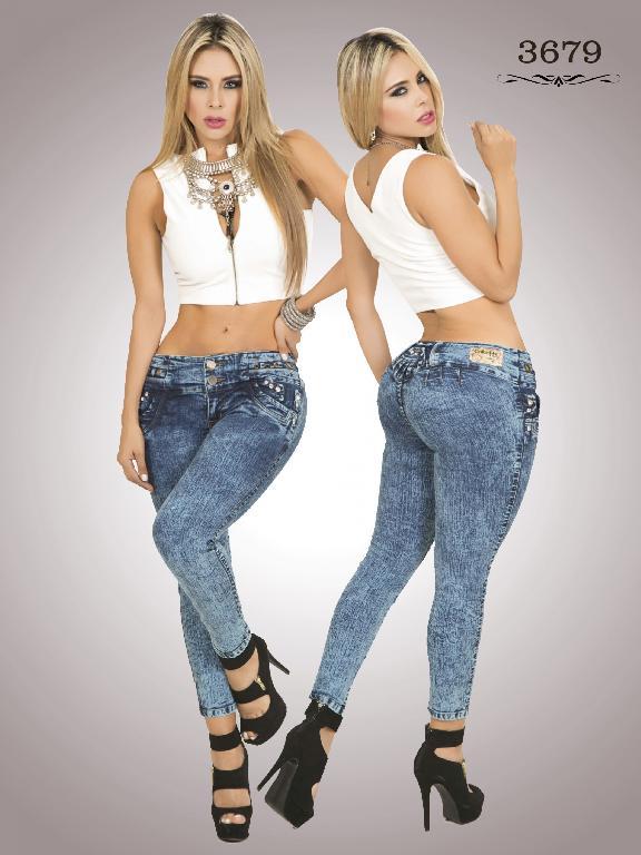 Jeans Levantacola Colombiano Cokette - Ref. 119 -3679