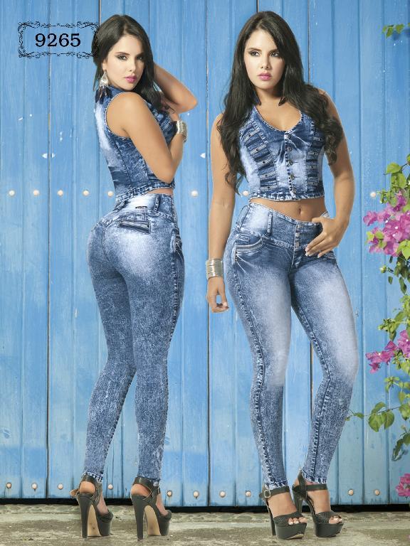 Conjunto Levantacola Colombiano Azulle