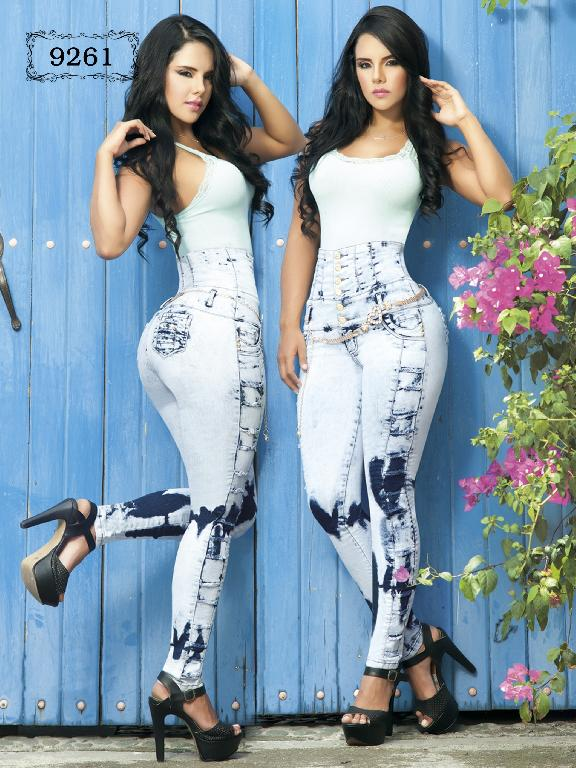 Colombian Higth-Weisted Jeans Sky Blue Azulle - Ref. 232 -9261