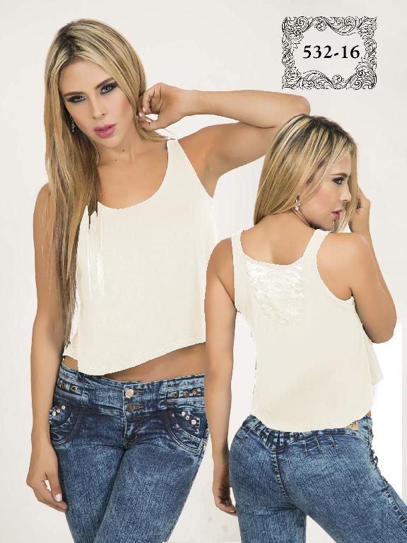 Blusa Colombiana Dirtyx  Beige - Ref. 231 -532 Beige