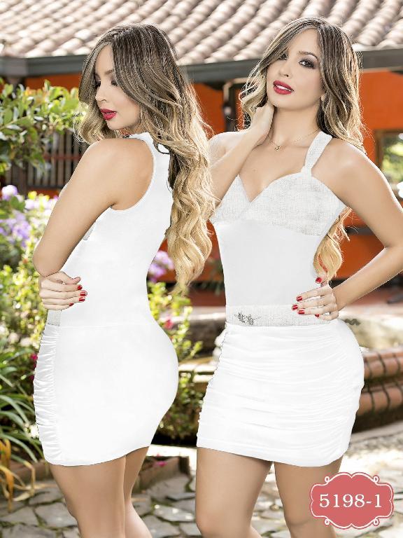 Vestido Colombiano moda Thaxx  - Ref. 119 -51981