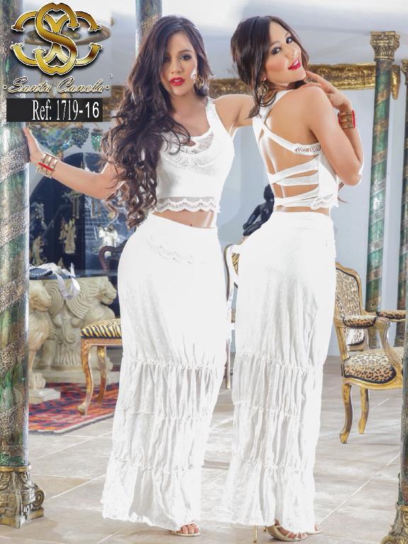 Vestido Moda Colombiano Santa Canela  - Ref. 130 -1719-16 BEIGE