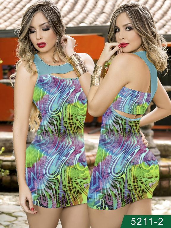 Vestido Moda Colombaino Thaxx  - Ref. 119 -52112