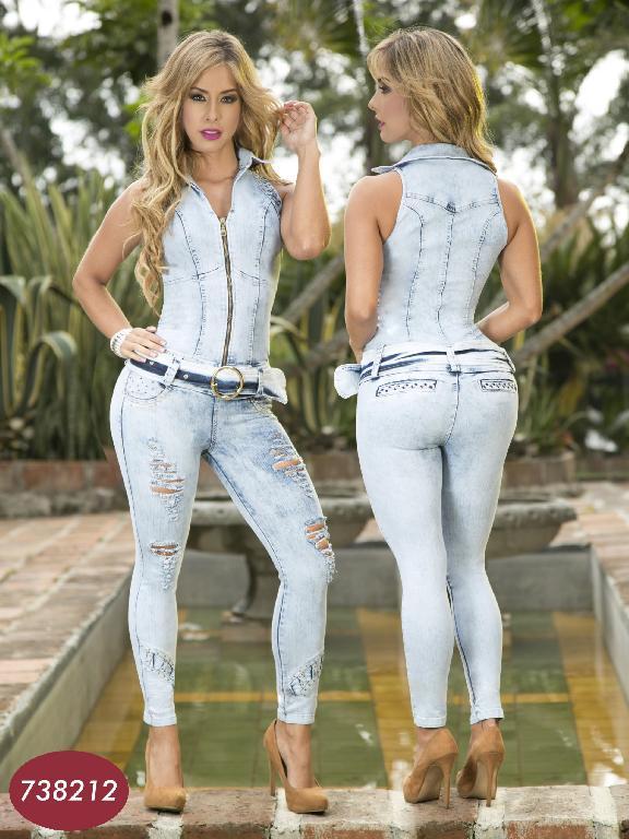 Enterizo Moda Yes Brazil - Ref. 113 -7382 Azul Claro