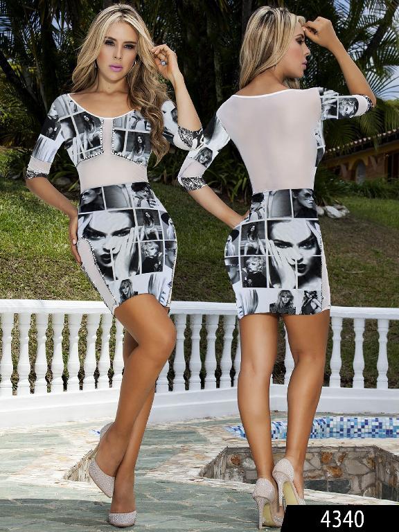 Vestido Moda Colombiano Cereza  - Ref. 111 -4340