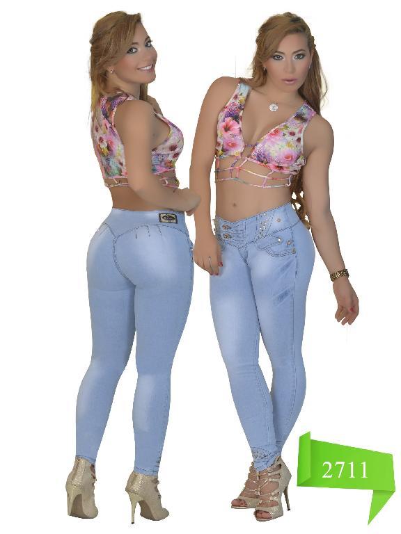 Jeans Levantacola Colombiano Studio AA  - Ref. 102 -2711