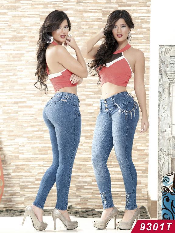 Jeans Levantacola Colombiano Tabbachi  - Ref. 101 -9301T