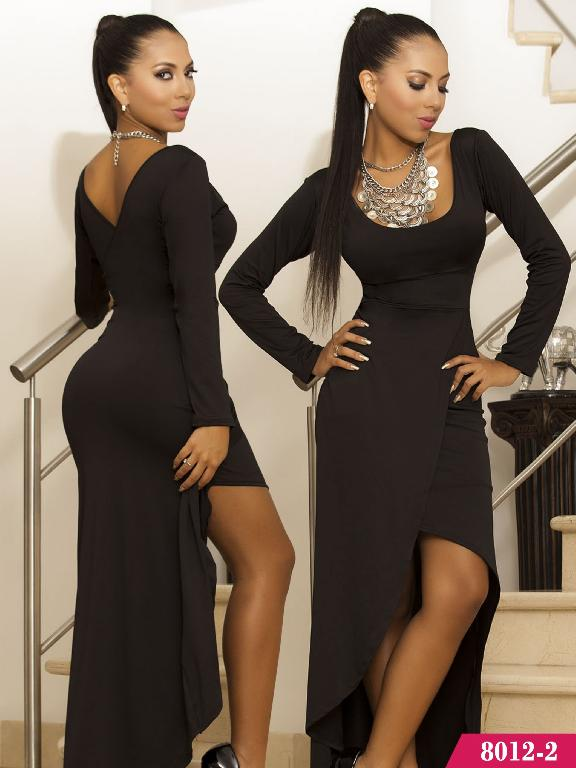 Vestido Colombiano Cereza  - Ref. 111 -80122 Negro