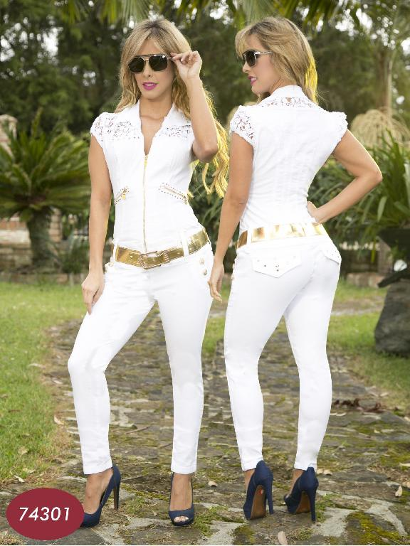 Enterizo Levantacola Colombiano Yes Brazil  - Ref. 113 -7430 Blanco