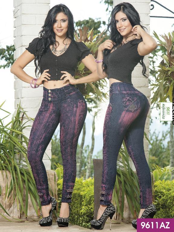 Colombian Butt Lifting Jeans Dark-Purple Azulle  - Ref. 232 -9611AZ