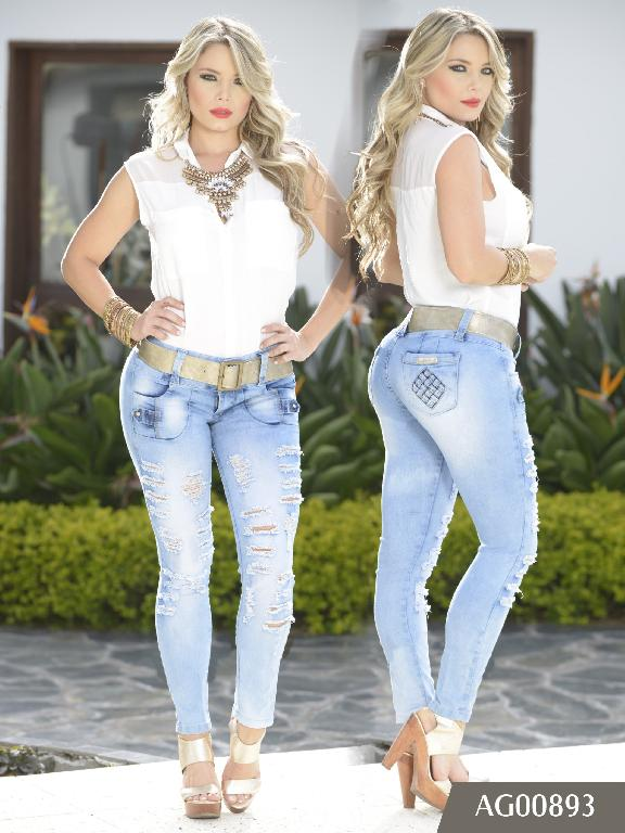 Jeans Levantacola Colombiano Asisea