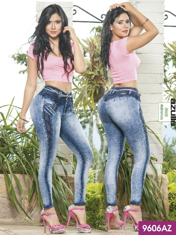 Colombian Butt Lifting Jeans Blue Azulle  - Ref. 232 -9606AZ