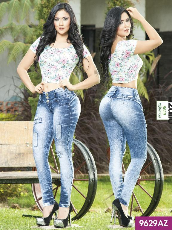Colombian Butt Lifting Jeans Blue  Azulle - Ref. 232 -9629AZ