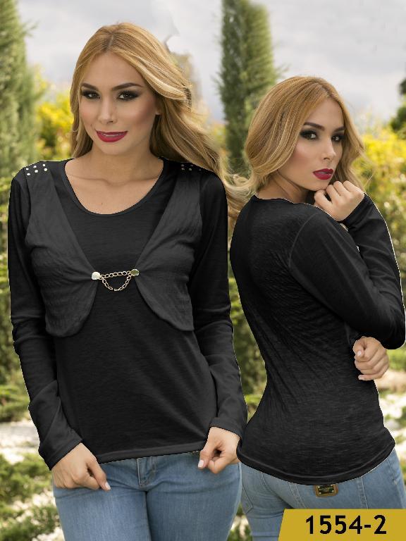 Blusa Moda Colombiana Kpriccio - Ref. 233 -1554 Negro