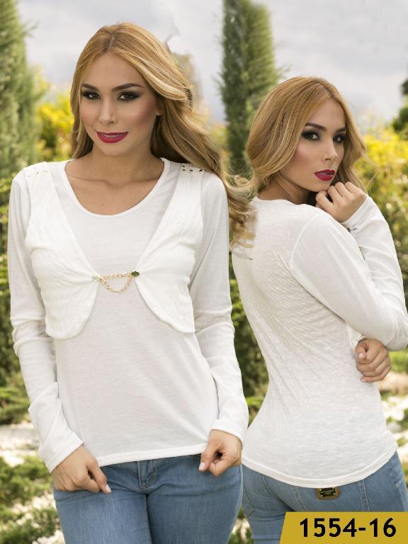 Blusa Moda Colombiana Kpriccio  - Ref. 233 -1554 Beige