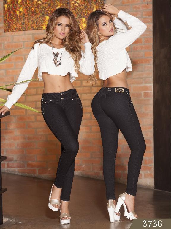 Jeans Levantacola Colombiano cokette - Ref. 119 -3736