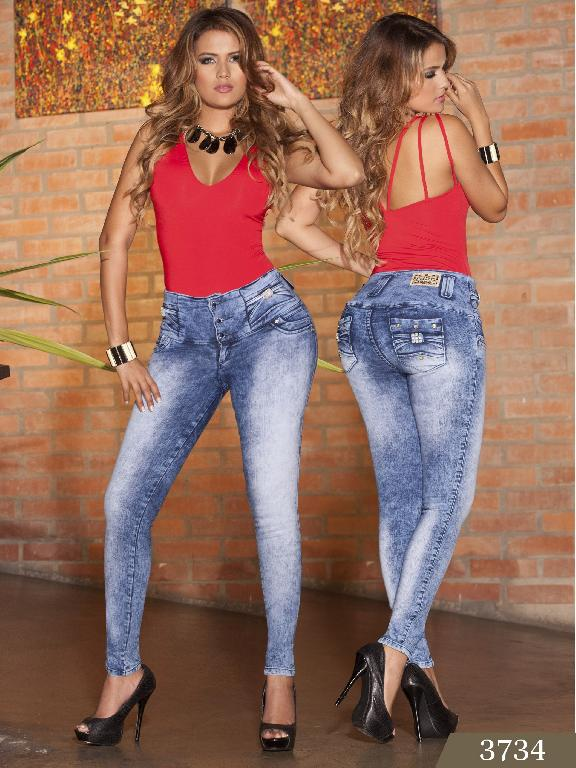 Jeans Levantacola Colombiano cokette - Ref. 119 -3734
