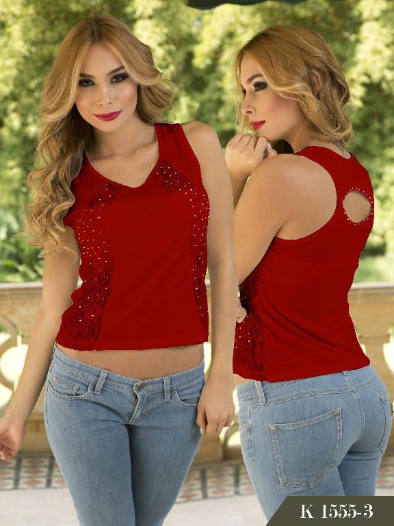 Blusa Moda Colombiana Kpriccio  - Ref. 233 -1555 Rojo