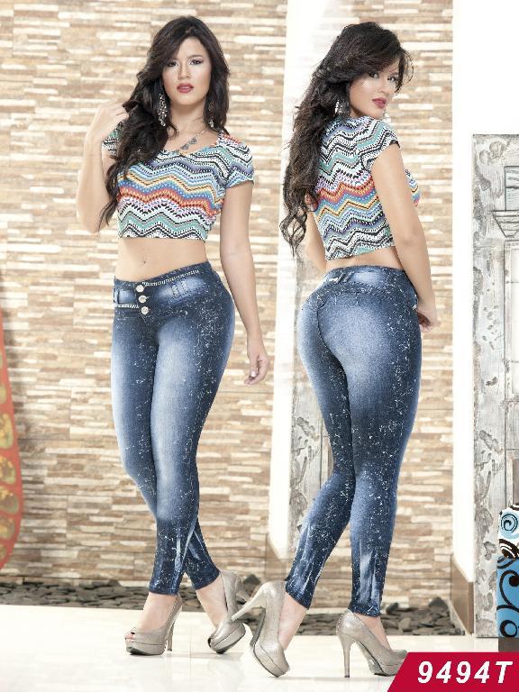 Jeans Levantacola Colombiano Tabbachi  - Ref. 101 -9494T
