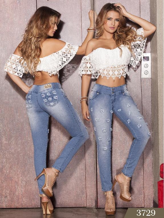 Jeans Levantacola Colombiano Cokette  - Ref. 119 -3729