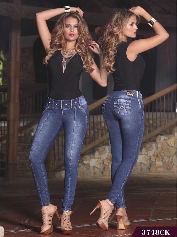 Jeans Levantacola Colombiano Cokette - Ref. 119 -3748