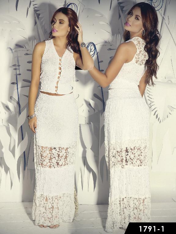 Vestido Moda Colombiana Santa Canela  - Ref. 130 -1791-1 Blanco