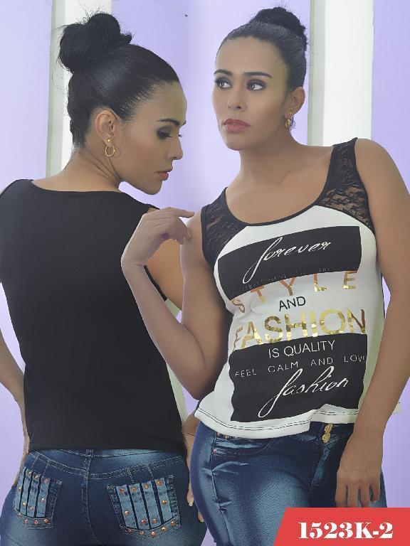 Blusa Moda Colombiana Kpriccio  - Ref. 233 -1523 2 Negra