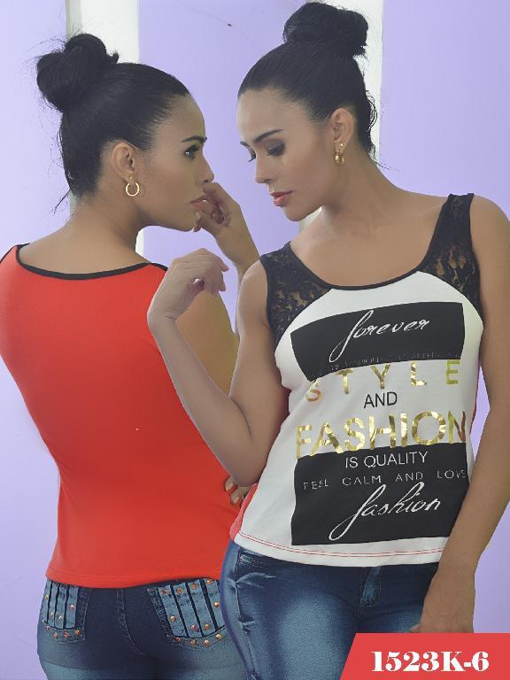 Blusa Moda Colombiana Kpriccio  - Ref. 233 -1523 6 Naranja