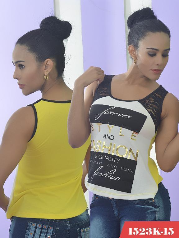 Blusa Moda Colombiana Kpriccio  - Ref. 233 -1523 15 Amarillo