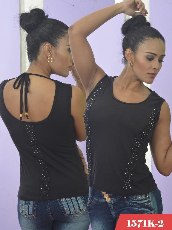 Blusa Moda Colombiana Kpriccio  - Ref. 233 -1571 2 Negro