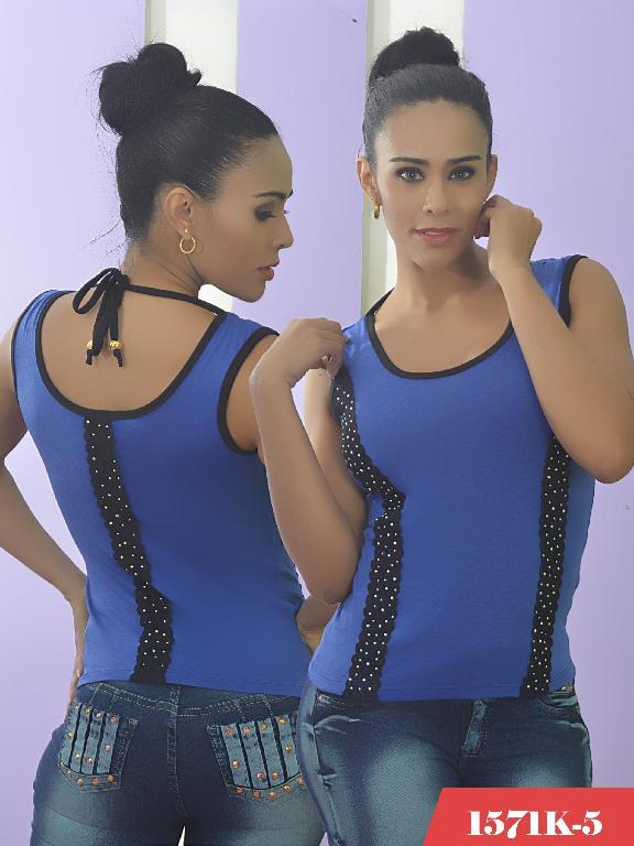Blusa Moda Colombiana Kpriccio  - Ref. 233 -1571 5 Azul