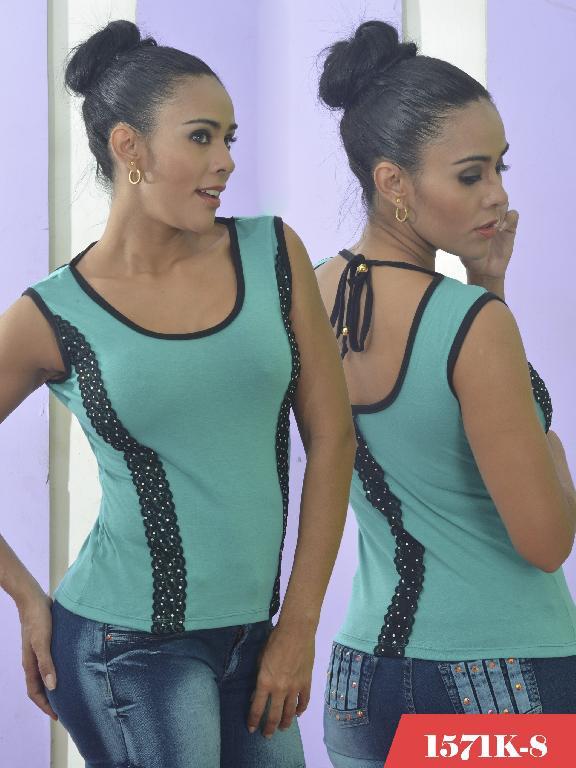 Blusa Moda Colombiana Kpriccio  - Ref. 233 -1571 8 Verde