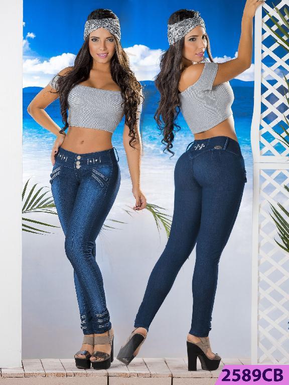 Jeans Levantacola Colombiano Capellini Boutique  - Ref. 106 -2589 CB
