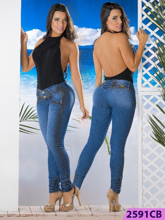 Jeans Levantacola Colombiano Capellini Boutique  - Ref. 106 -2591 CB