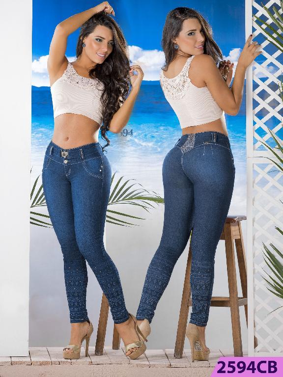 Jeans Levantacola Colombiano Capellini Boutique  - Ref. 106 -2594 CB