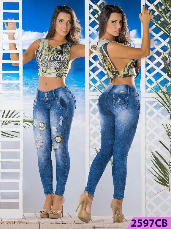 Jeans Levantacola Colombiano Capellini Boutique  - Ref. 106 -2597 CB