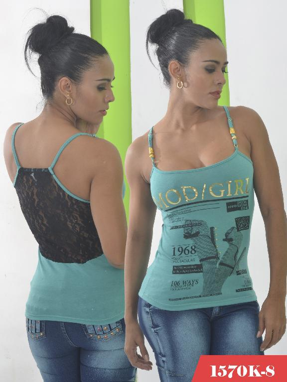 Blusa Moda Colombiana Kpriccio  - Ref. 233 -1570 8 Verde